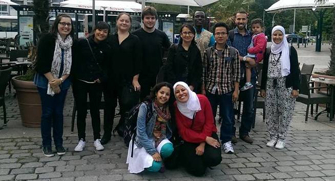 Our students (intake 2014) on a study trip