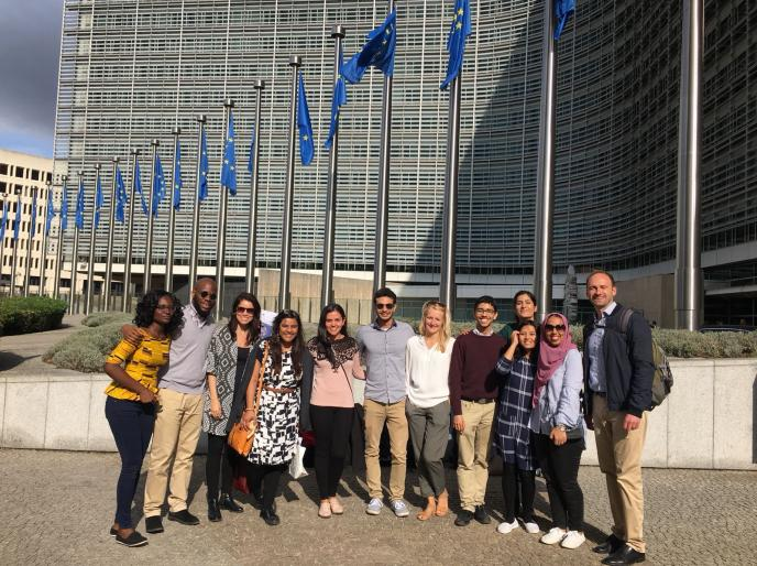trip to Brussels and a visit at the European Parliament with Professor Kaeding in 2018